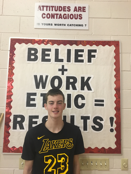 February Student of the Month Landon Larkin