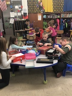 Mrs. Phalen's class making leprechaun traps
