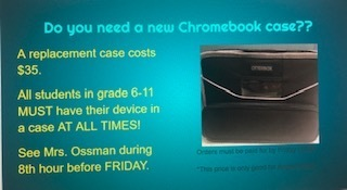 Chromebook case slide.