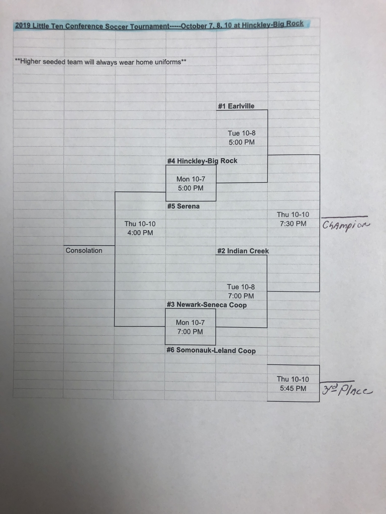 LTC tournament soccer bracket
