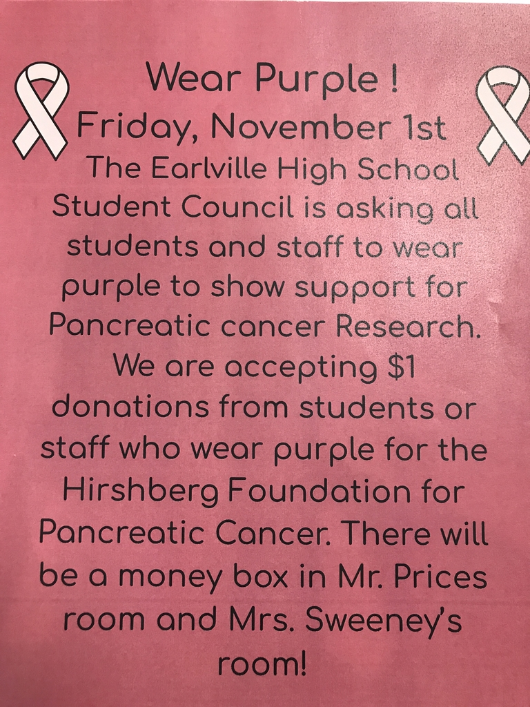 Wear Purple Friday 11/1 and donate $1.00 to benefit the Hirshberg Foundation for Pancreatic Cancer.