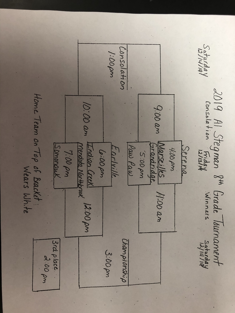 Al Stegman 8th grade tournament