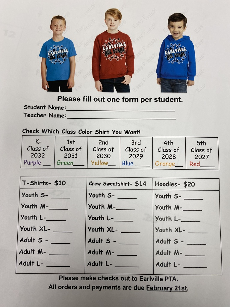 All Star Shirt order form