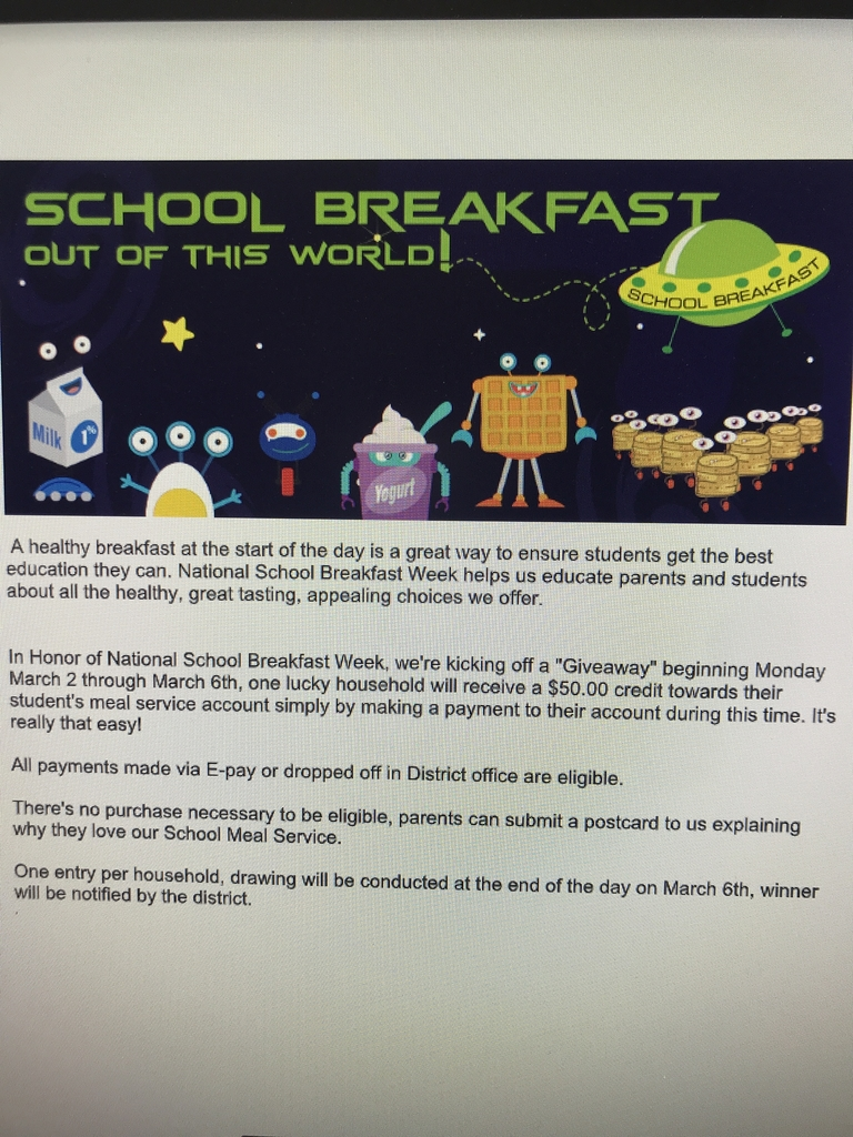 School breakfast giveaway!!!